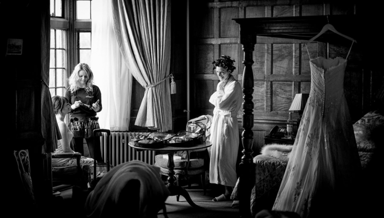 another example of documentary wedding photography, the bride getting ready. This photograph tells a story.