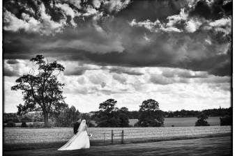 bride and groom at blake hall