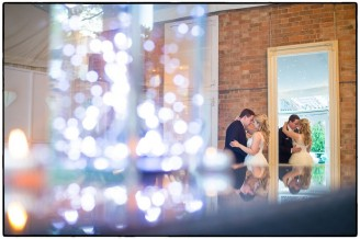 Norwood Park wedding photography showing the bride and groom having a moment together