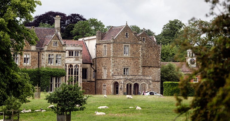 Fawsley Hall photographed from the church.
