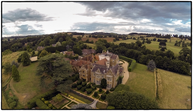 fawsley hall aerial photograph