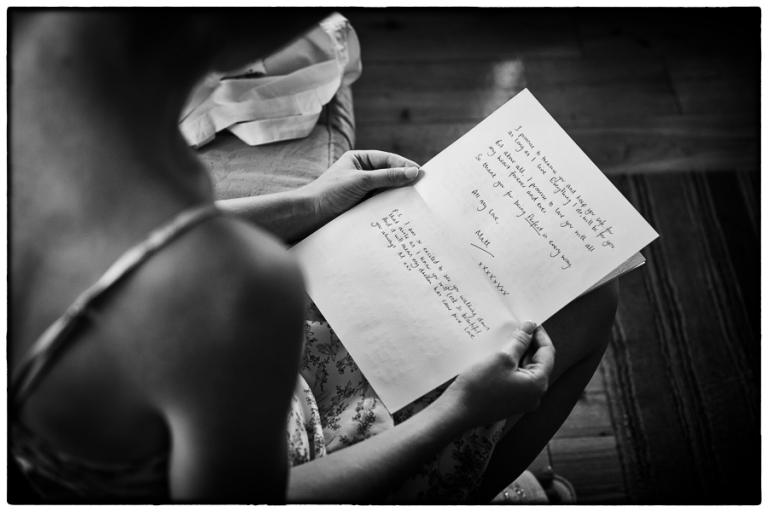 Lauren reads Matthews letter