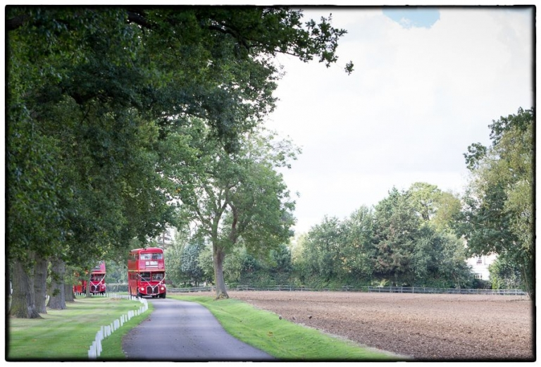 route master buses arriving at Blake Hall